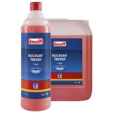 T464 Bucasan Trendy, 1л pH0.5 Чистящее средство для сантехники, плитки, хрома
